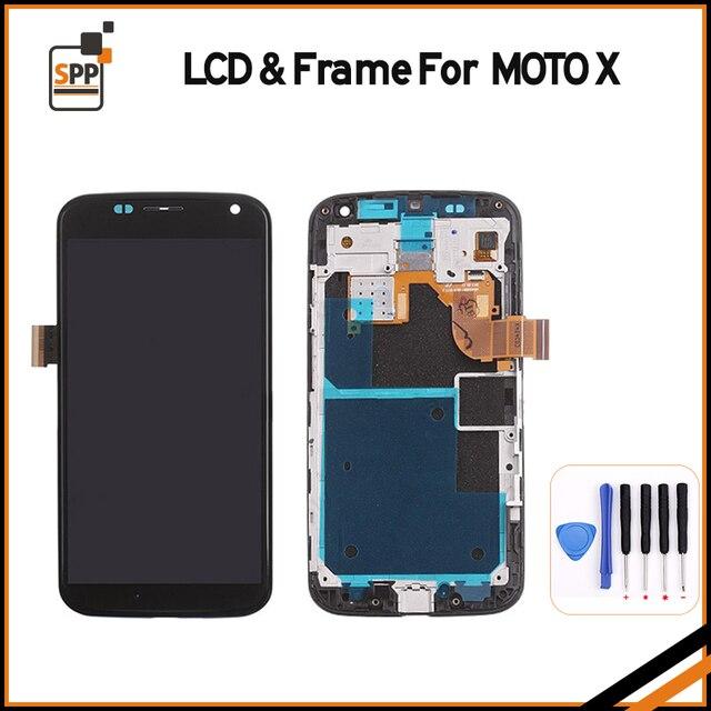 Original For Motorola For Moto X XT1052 XT1053 XT1056 XT1058 XT1060 LCD Screen Display Touch Digitizer Assembly+Frame+Tool