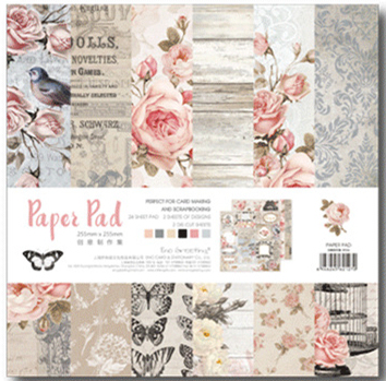 25.5*25.5cm Scrapbooking paper pack of 24 sheets handmade craft paper craft Background pad 006