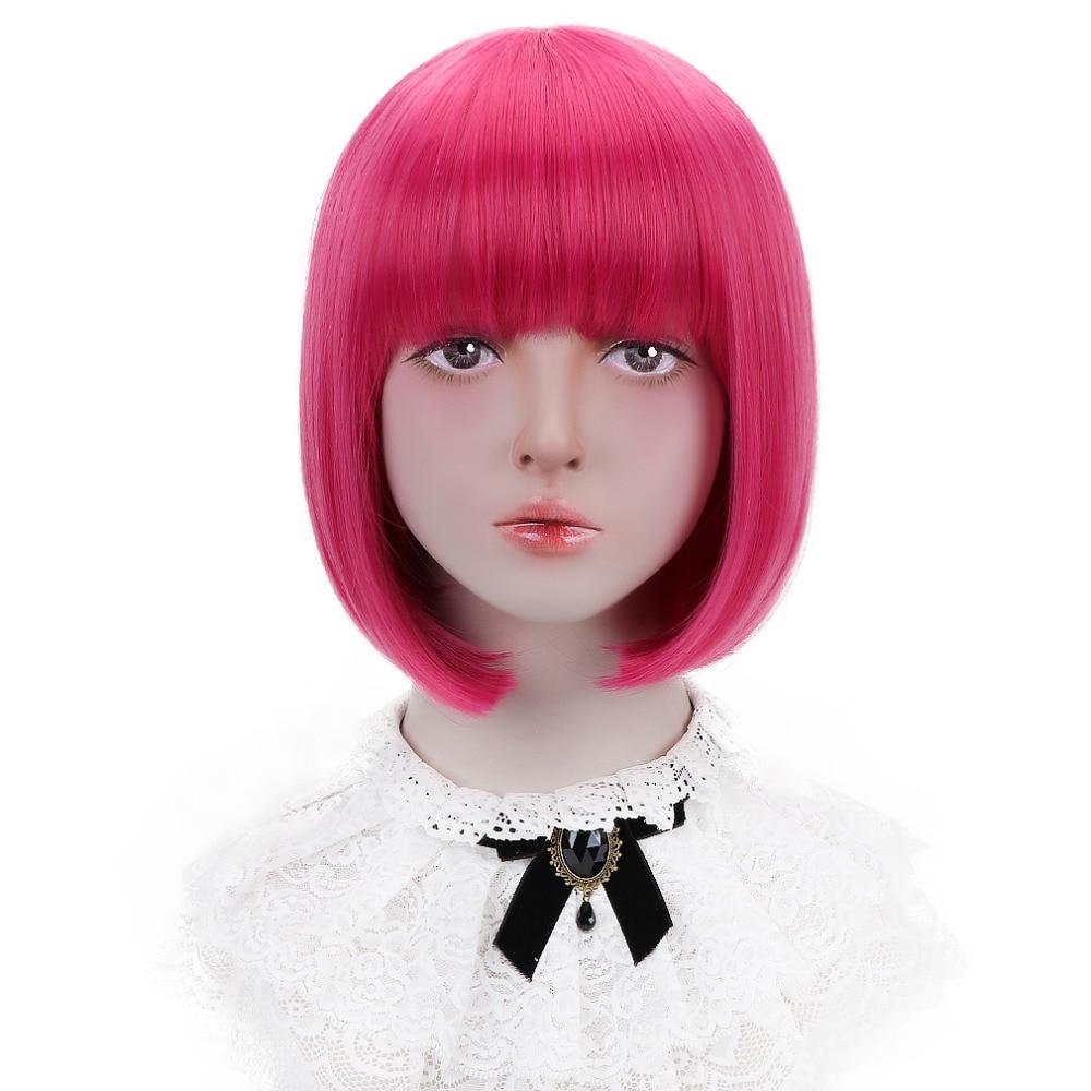 Lace Perücken Heißer Verkauf Jingfa Perücken Synthetische Haar Hitze Beständig Bunte Bob Perücken Für Frauen