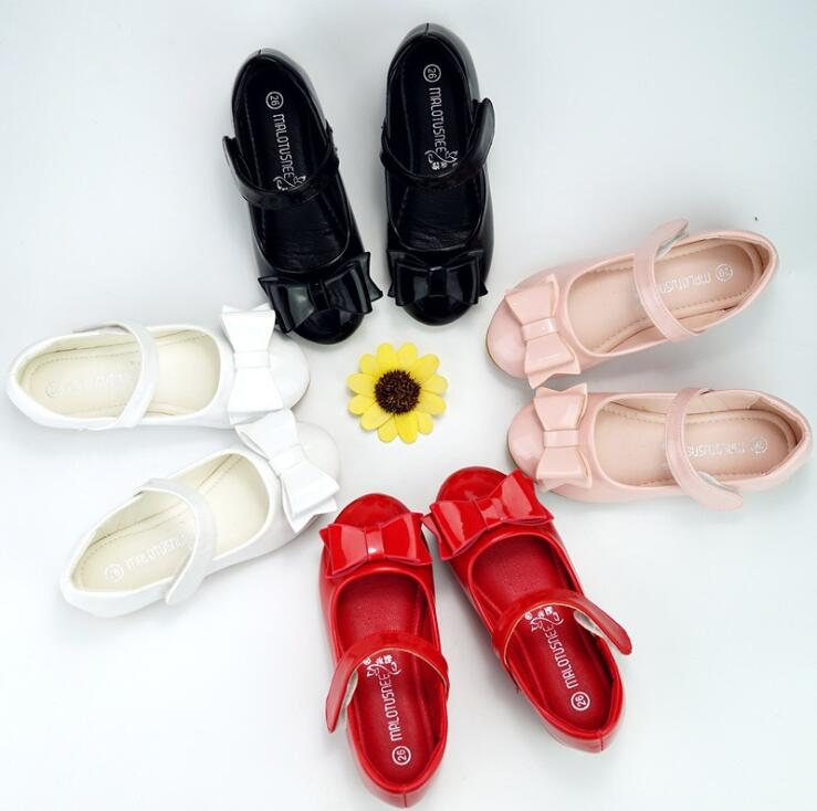 Patent leather princess dance shoes Graduation show student performance show shoes bow girls leather shoes children casual shoes