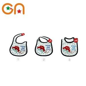 Image 4 - 4 piece/Lot Baby cotton bibs Kids Girl Boy Children Cartoon waterproof Dinner Feeding bib Infant Newborn Burp Cloths apron CN