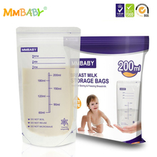 hot deal buy mmbaby 20 pieces 200ml milk freezer bags mother milk baby food storage breast milk storage bag bpa free baby safe feeding bags