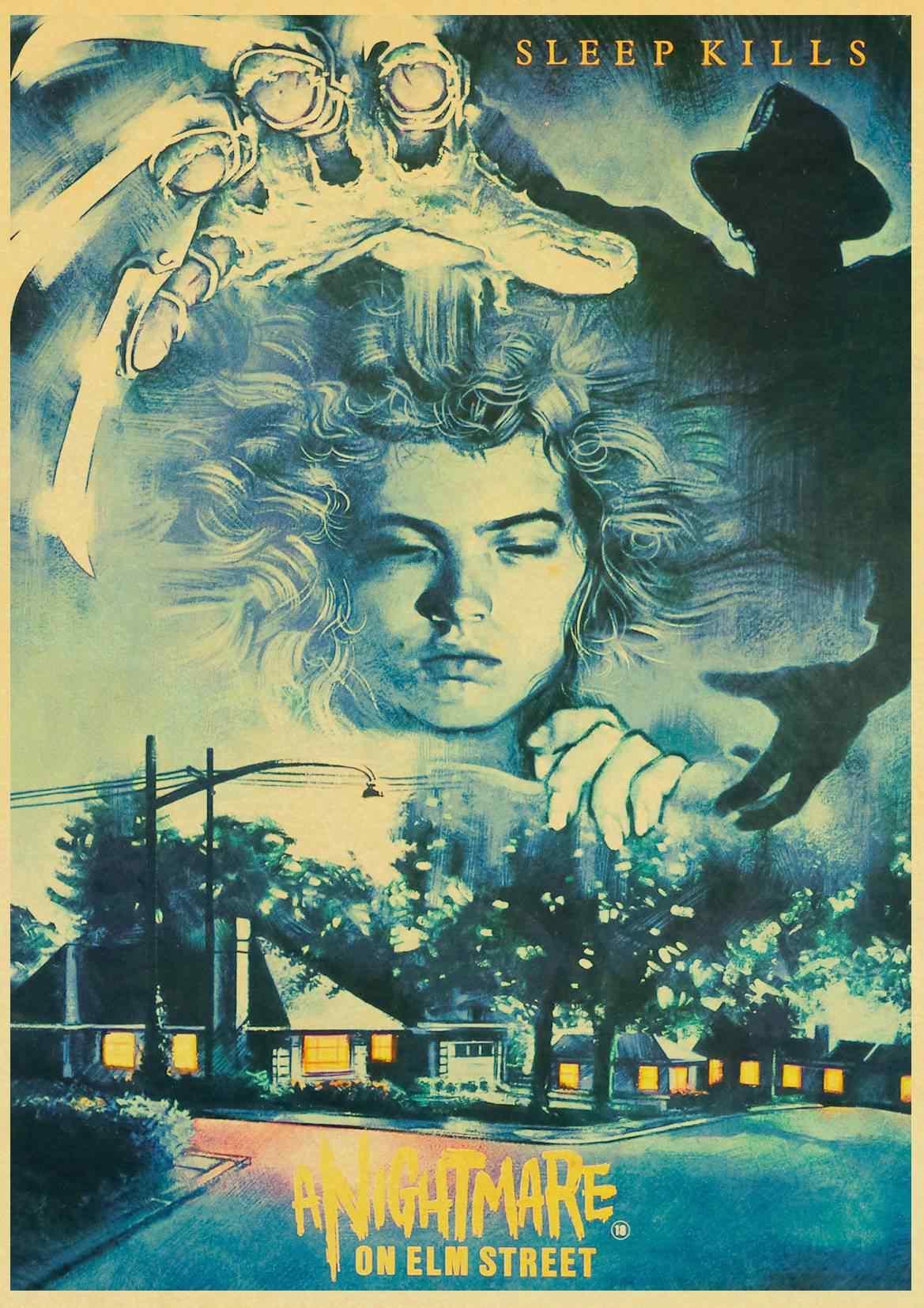 Кошмар на улице Elm плакат фильма/Настенный декор/декоративная живопись/крафт-бумага/Бар плакат/Ретро плакат