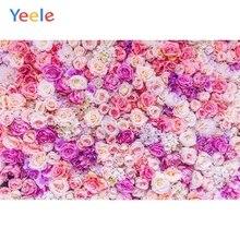 Yeele Wedding Flower Purple Photography Backdrops Birthday Party Custom Photocall Vinyl Baby Shower Background For Photo Studio 7x5ft purple unicorn newborn baby shower custom photo studio backdrops background polyester 220x150cm
