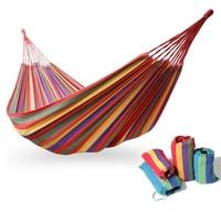 280x150cm Hammock Double Size Canvas Stripe Portable Outdoor Garden Hammock Camping Product Swing Hammocks