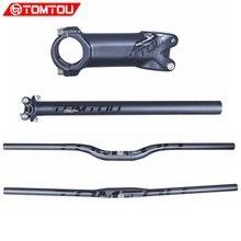 TOMTOU матовый черный карбоновый горный велосипед комплекты для руля велосипедный руль подседельный штырь Детали руля велосипеда-TS3T57
