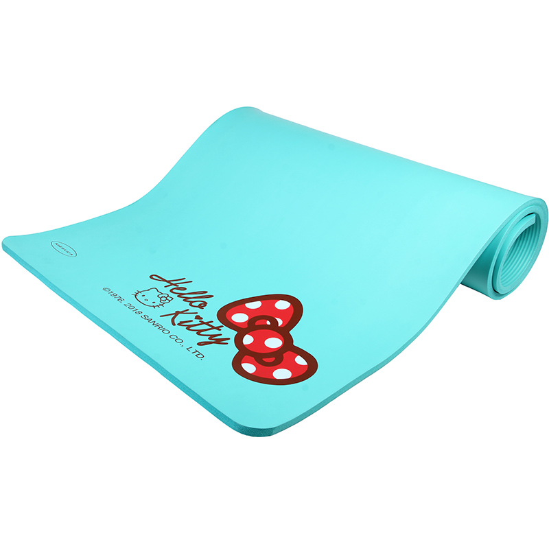 Hello Kitty 15mm Thickness Durable Exercise Fitness Non-Slip Yoga Mat Lose Weight Meditation Pad 185cm*80cm*1.5cm more longer new style 183cm 68cm 5mm natural rubber non slip tapete yoga gym mat lose weight exercise mat fitness yoga mat
