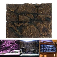 60 x 45 x 3cm 3D Foam Rock Reptile Stone Aquarium Background Backdrop Fish Tank Board Decor Wholesale PU Leather Foam