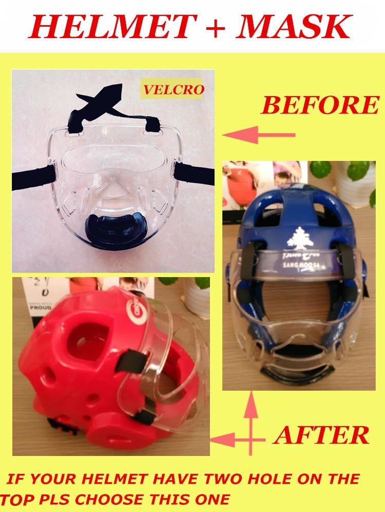 NEW Removable helmet mask for taekwondo karate face mask protector environmental material kids adult fitness sport headgear