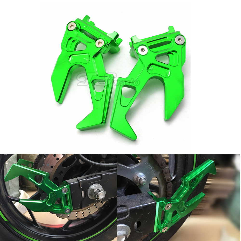 motorcycle Chain Adjuster Aluminum Tensioner Roller Street Chopper moto chain adjuster for KAWASAKI ninja300 Chain Adjuster Alum motorcycle adjustable aluminum chain tensioner adjuster bolt on roller motocross dirt street bike atv for honda kawasaki yamaha