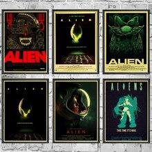 Домашний арт фильм инопланетянин Ретро плакат печатает высокое качество настенные наклейки для гостиной украшение дома