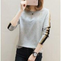 Plus Size 5XL Long Sleeve T Shirt Women T Shirt Cotton Tee Shirt Femme White Tshirt