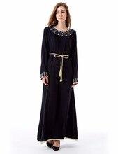 muslim Kaftan Maxi black Long sleeve long Dress moroccan clothing font b Islamic b font font