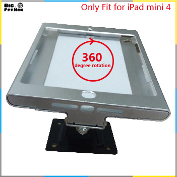fit for ipad mini 4 wall mount metal case store display retail bracket store tablet pc