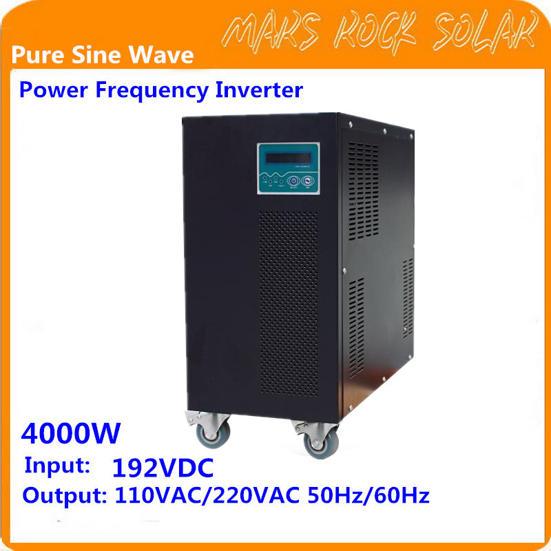 4KW Pure Sine Wave Off Grid Inverter 192VDC-110/220VAC 50/60Hz with City Grid Charge Function Power Frequency Inverter 1000w off grid inverter with charger surge power 2000w dc12v to ac220v 60hz pure sine wave inverter with charge battery function