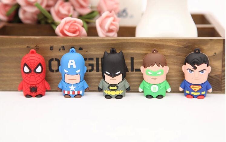 Hero Bat Man and Robin Super Man USB Flash Drive Memory Card Stick Thumb/Car key/Pendrive U Disk/ Avengers 1-64gb#21