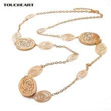 Женское винтажное ожерелье toucheart длинное золотистого цвета
