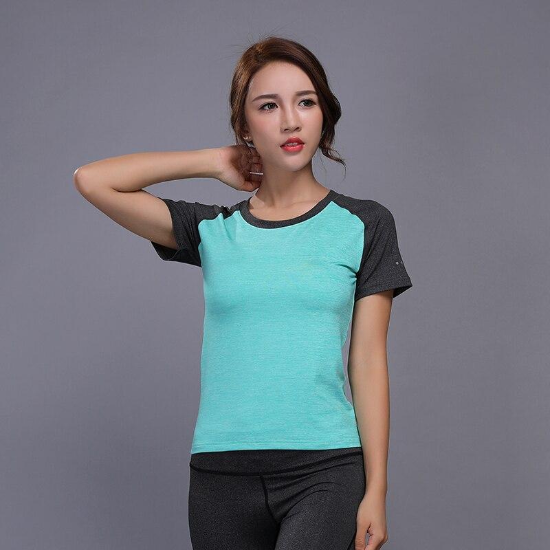 Women Sports T-Shirts Gym Short Sleeve Yoga Shirts Elastic Quick Dry Fitness Tops Running Shirt Outdoor Sportswear KACIGEYA Tee