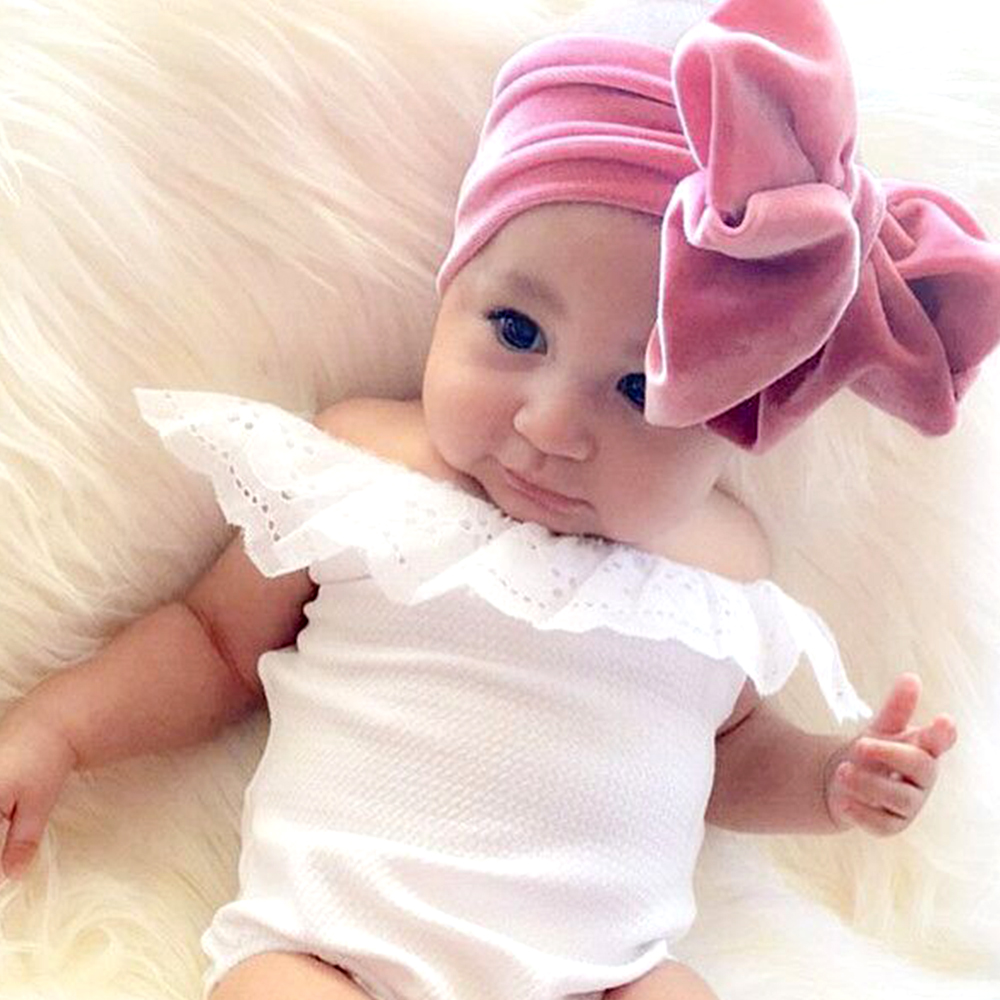 New Baby Girls Big Bowknot Headband Newborn Headbands Bow Hair Band Children Kid Cotton Turban HeadWrap Infant Corduroy Headband