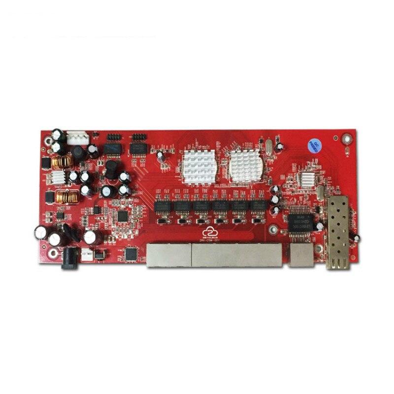 OEM/ODM PoE switch 48 V 8 port 10/100 Mbps poe commutateur pcb conseil pour IP téléphone, IP caméra extérieure wifi antenne - 2