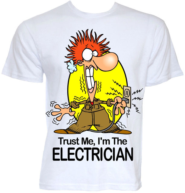 0bc4e6504 MENS FUNNY COOL NOVELTY ELECTRICIAN SPARKY NEW JOB T-SHIRTS JOKE GIFTS  PRESENTS Mans Unique Cotton Short Sleeves O-Neck T Shirt