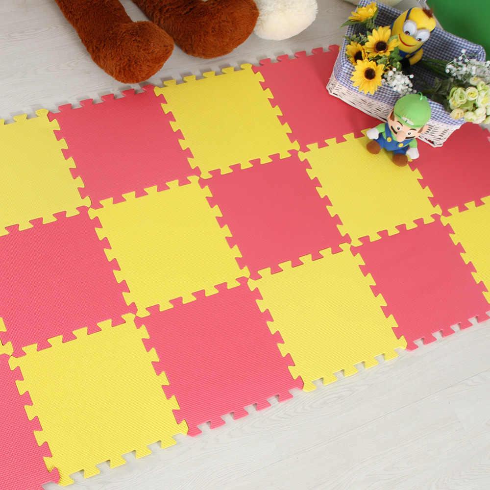 Meitoku bebek EVA Köpük Oyun bulmaca matı/9 adet/grup Birbirine Egzersiz Fayans Zemin Mat için Çocuk, her 32 cm X 32 cm