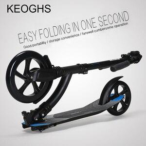 Image 4 - Erwachsene kinder roller baby faltbare PU 2 räder bodybuilding outdoor alle aluminium schock städtischen campus transport