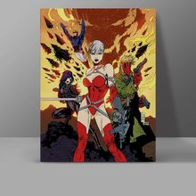 Red Assassin Canvas Painting Superhero Electra Wall Pictures Living Room HD Print Hanging