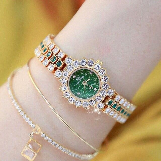 New Arrivral Luxury Diamond Small Dial Women Watches Ladys Elegant Dress Watch Girl Fashion Casual Quartz Watch Zegarek Damski