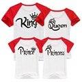 Новый Корона Короля Королева Принц Принцесса 01 Письмо Печати Отдых Футболки Отец Мать Дочь Сын Соответствующие рубашки, новое Семейство Смотреть
