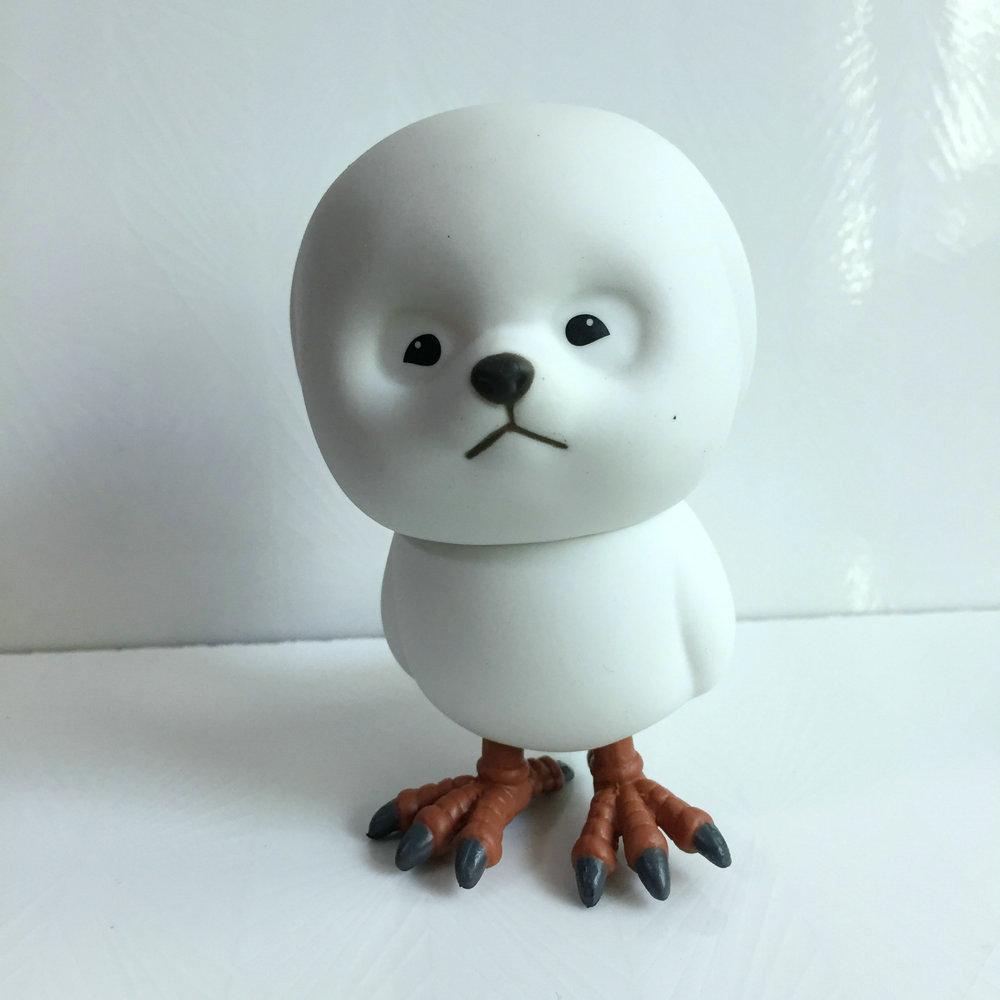 Cute Animal Cartoon  White Dog Head Bird Body Action Figure Toy AB012