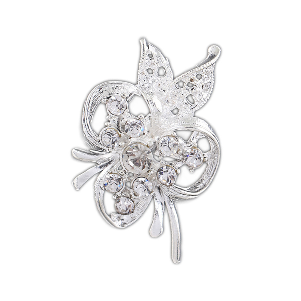 e86cba7ce Drop Shipping Charming Accessories Alloy Hollow Butterfly Rhinestone Brooch  Pin Collar YBRH-0253
