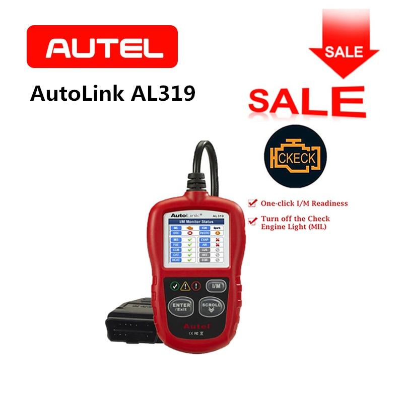 Autel Autolink Al319 Diagnostic Tool Diy Obdii Car Fault Engine Code Reader Scanner Obd2 Vehicle Color Tft Screen Original