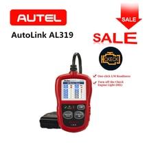 Autel Автоссылка AL319 инструмент диагностики DIY OBDII автомобилей неисправности двигателя Code Reader Сканер OBD2 автомобиля Цвет экран TFT оригинальный