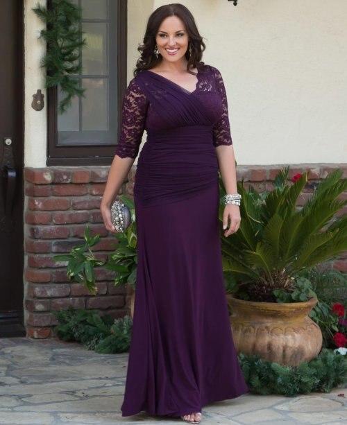 Elegant-Dark-Purple-font-b-Long-b-font-Evening-Dress -With-Lace-Sleeves-font-b-Plus.jpg