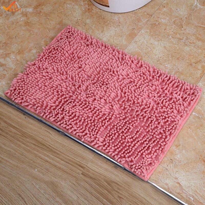 Anti-slip Bathroom Kitchen Door Mats Floor Rug Carpet Doormat Chenille 40*60cm
