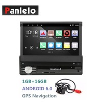 Android Single 1DIN Car Radio Stereo Quad Core 6.0 Touch Screen Car GPS Navigation Radio Player Bluetooth/WIFI/Mirror Link/AM/FM