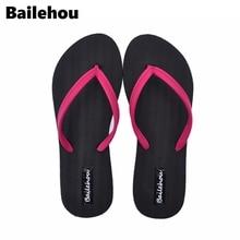 купить Bailehou Fashion Women Slippers Casual Flat Shoes Flip Flops Beach Sandals Slip On Slides Candy Color Ladies Shoes Flat Platform дешево