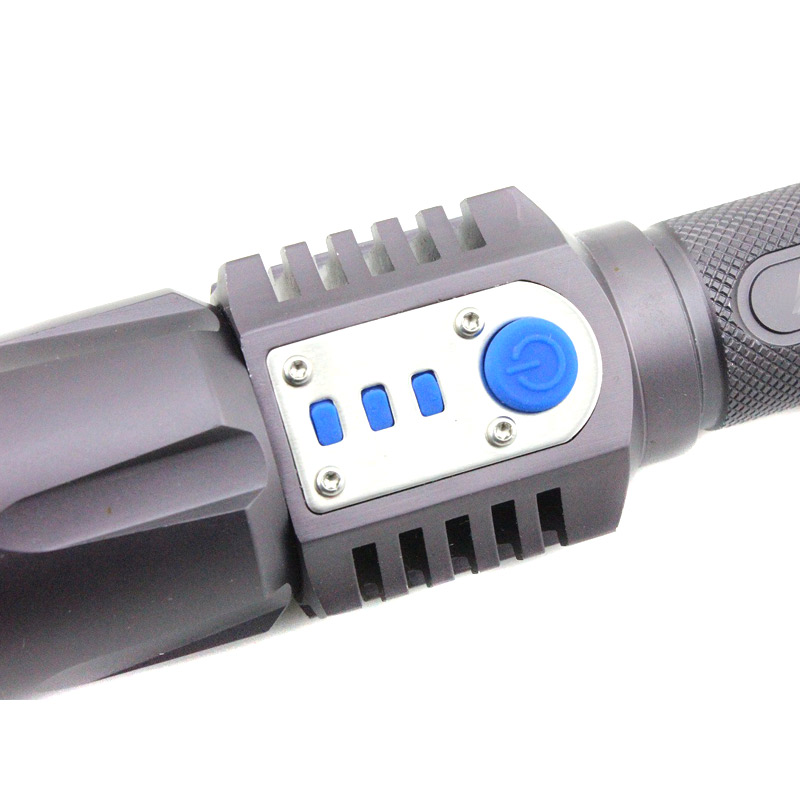 XM-L2 1200LM Rechargeable LED Flashlight Power Bank Torch Light with Power Display for Outdoor Camping Hiking --M25