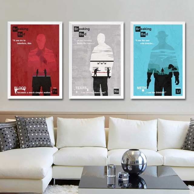 Breaking Bad TV Show Wall Art Paint Wall Decor Canvas Prints Canvas ...