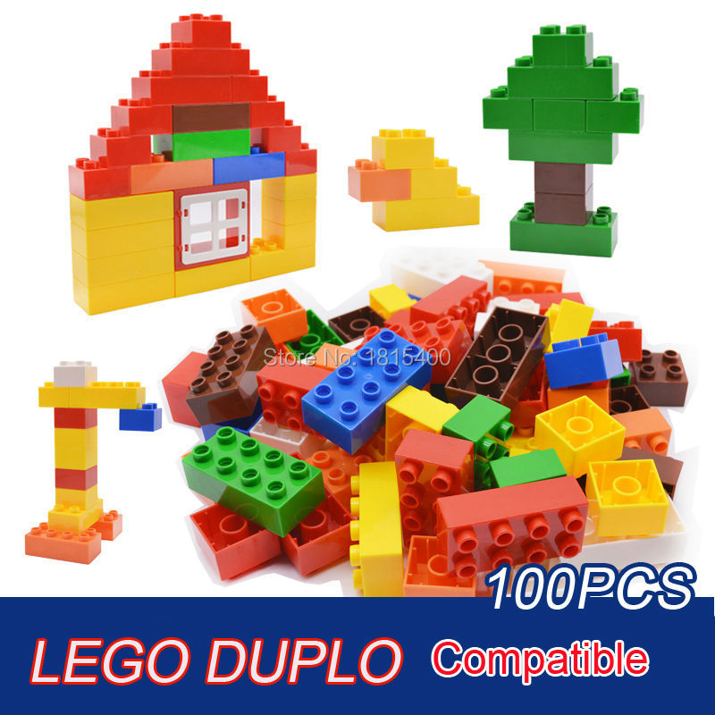 Baby Toys Large Size Building Blocks Plastic Assembly Model Big Bricks Learning Educational Toys For 3 Years Olds 100pcs/set baby gift imported wood color large blocks 1 2 3 6 years old early childhood educational toys