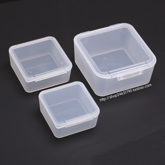 Free Shipping Transparent Plastic Small Square Boxes