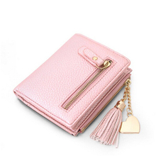 Multi-Function Small  Women Wallets  Purse Short Design Tassel Wallet  Money Purse