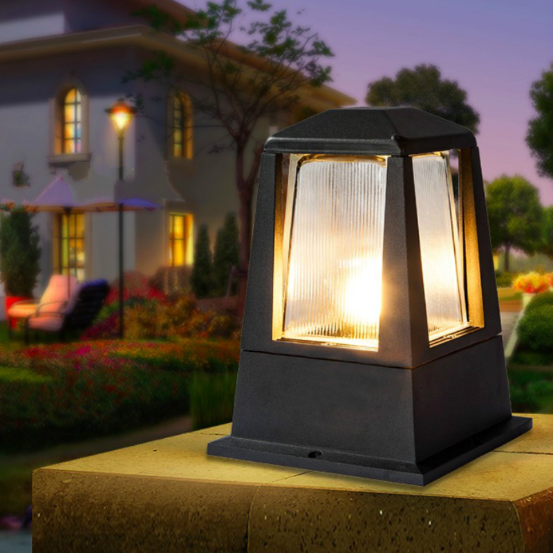 led outdoor lighting garden wall column lamp IP54 waterproof led outdoor wall pillar lamp pathway lawn lighting e27 bulb fixture led recessed wall light outdoor waterproof ip54 modern wall lamp for stairs art home decoration sconce lighting fixture 1097