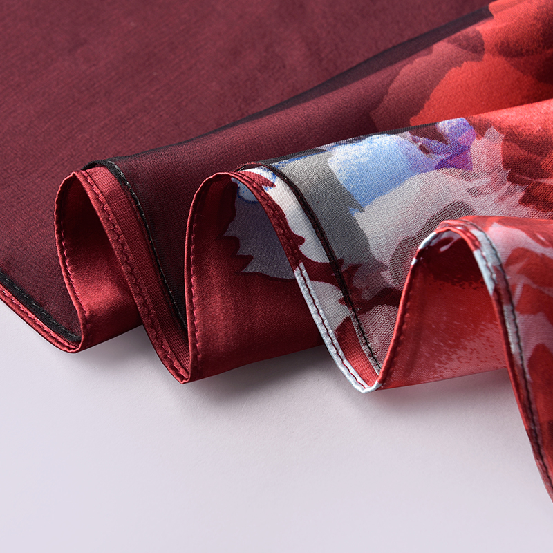 100% reiner Seide Schal Damen Luxus Marke 2019 Hangzhou Seide Schals und Wraps für Frauen Natürliche Echte Seide Schals Foulard femme - 5