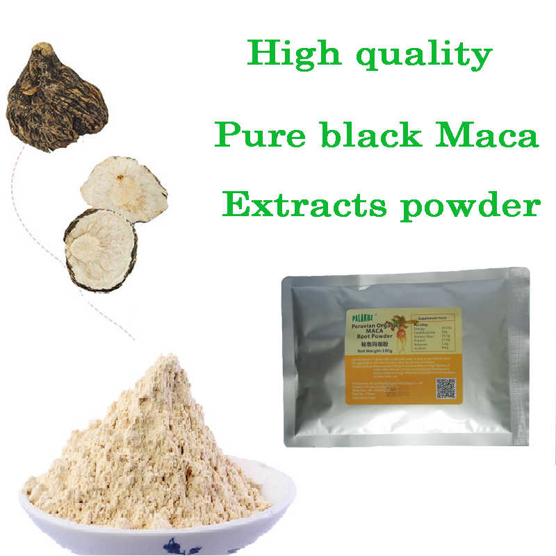 Peruvian Pure black Maca Root Extracts powder for Healthy Energy personal care