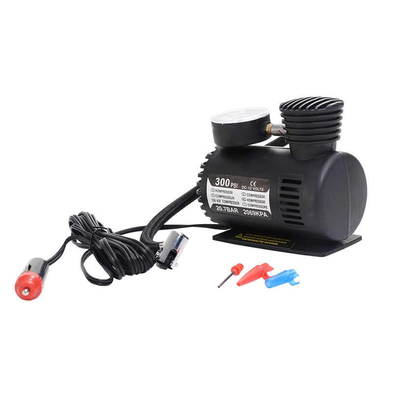 300 PSI Mini compresor de aire 12V Auto bomba portátil Inflador de neumáticos w/manómetro nuevo YAN88