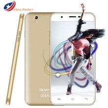 "2.5D изогнутый экран 5.5 ""Oukitel U7 Макс смартфон MT6580A Android 6.0 Quad Core 1 ГБ оперативной памяти + 8 ГБ ROM WCDMA 1280×720 Dual SIM 8.0MP"