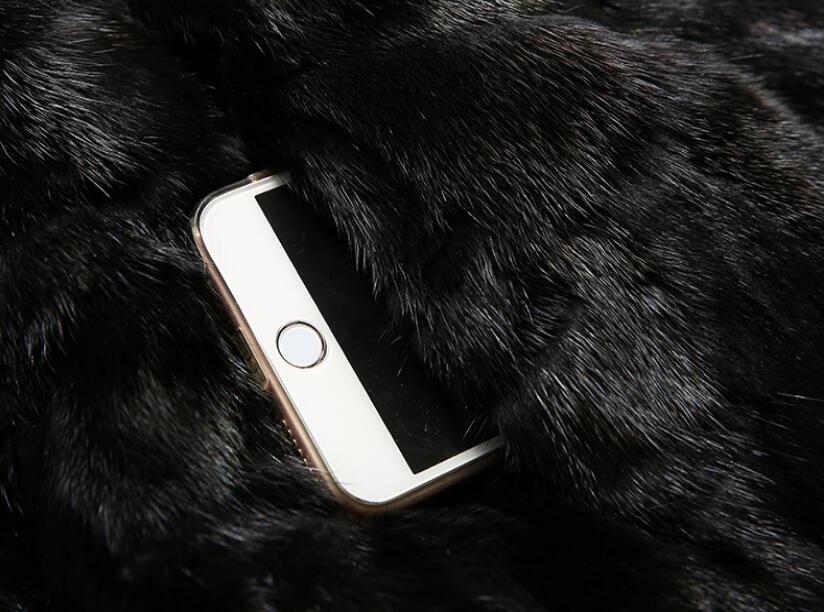 Fermeture 100 Femmes Gratuit Manteau Pour Mixcolors Véritable Éclair De Vison Fourrure Mode Nouveau Veste Brillant Hiver Réel Sur Wsr349 Devant black Automne Luxe Le 0FRwZxq5n