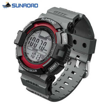 SUNROAD Waterproof Digital Watch All In One Multifunction Fishing Barometer Altimeter Thermometer Record Watch Clock Men Saat - DISCOUNT ITEM  29% OFF All Category